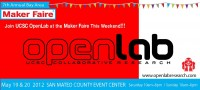 Join OpenLab at the 2012 Maker Faire this Weekend