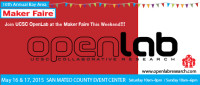 Please join OpenLab at the Maker Fair May 16th & 17th!