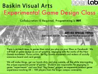 OpenLab + UCSC Baskin Visual Arts Department offer Experimental Game Design Class Spring 2012